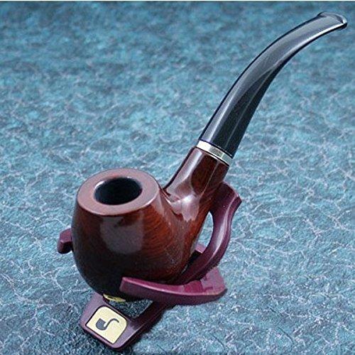 Durable fumeurs de tabac à pipe en bois avec support et couvercle nouveau cadeau