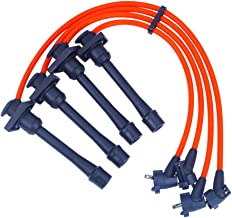 Spark Plug Wires Sets Igniton Cable Leads High Performance Silicone for Toyota 4A-FE 7A-FE Celica Corolla Geo Prizm 1.6L 1.8L 1993-1997