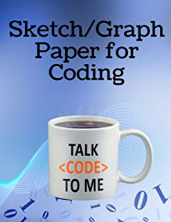 Sketch / Graph Paper for Coding: A notebook to help design and write your code: 4
