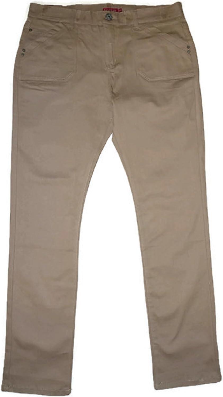 No Fuze NoFuze Skinny Stretchable Womens Uniform Pants Junior Sizes Navy, Black, Khaki