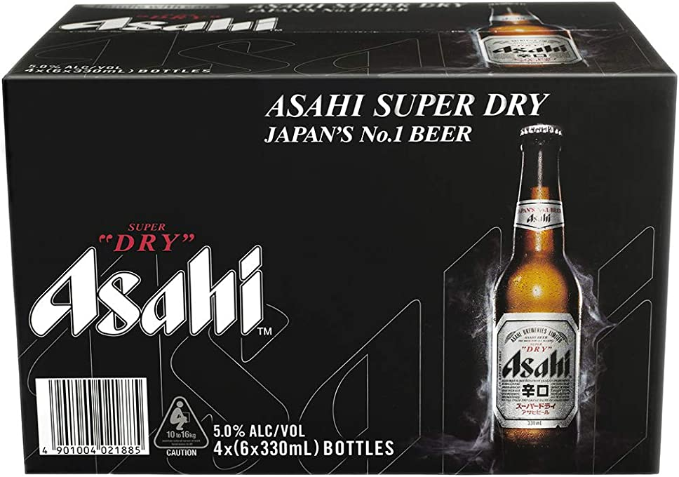 Asahi Super Dry Beer 330ml - 6 pack
