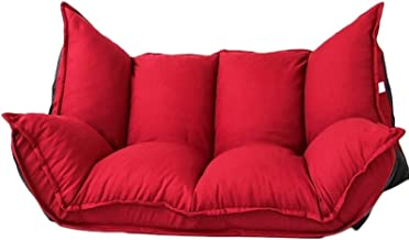 TWDYC Adjustable Floor Couch and Sofa for Living Room and Bedroom Foldable with Reclining Position Love Seat (Color : Red)