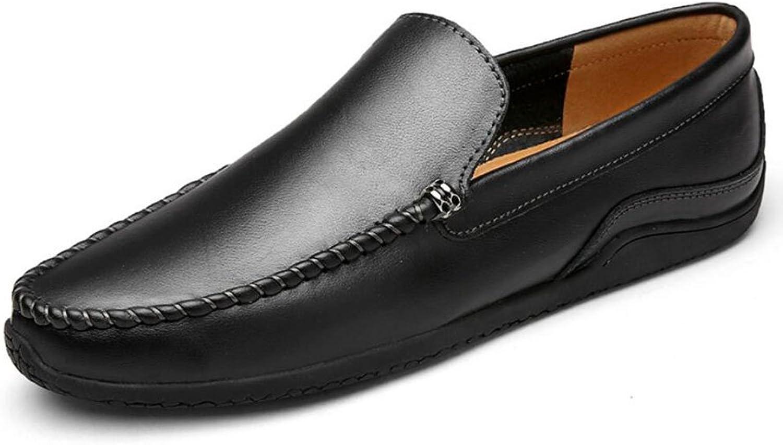 Männer Loafers Loafers Loafers Leather Peas Schuhe Frühjahr Herbst Winter Comfort Loafers & Slip-Ons Schwarz Braun Herren Täglich Casual Driving Schuhe Wanderschuhe (Farbe   Schwarz, Größe   38)  638ab8