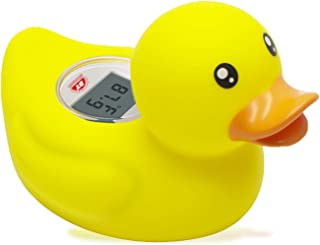Doli Yearning Baby Bath Thermometer with Room Temperature  Fahrenheit and Celsius  in Classical Duck Lovely Shape Kids' Ba...