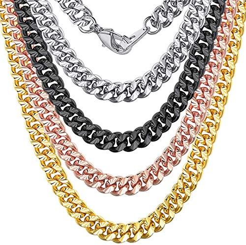 ChainsHouse Cadenas para Hombre Acero Inoxidable 7mm Ancho 66cm Collar Chico Cuello para Muchachos Muchachas Regalo Dia de los Enamorados San Valentin