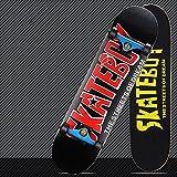 Skateboard Ruedas de luz LED Acuario Pro Patineta Completo Tabla de Skateboard con rodamientos para Principiantes 7 Capas de Arce Monopatín de Madera para Niñas Niños Adolescentes Adultos