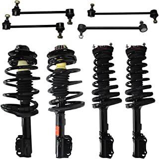 Detroit Axle - 4-Cylinder Only - All Front & Rear Driver & Passenger Side Complete Strut & Spring Assembly with (4) Sway Bar End Links for [1997-2001 Toyota Camry 2.2L Only]