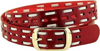 uxcell Women Single Pin Buckle Braided Hollow out PU Waist Belt