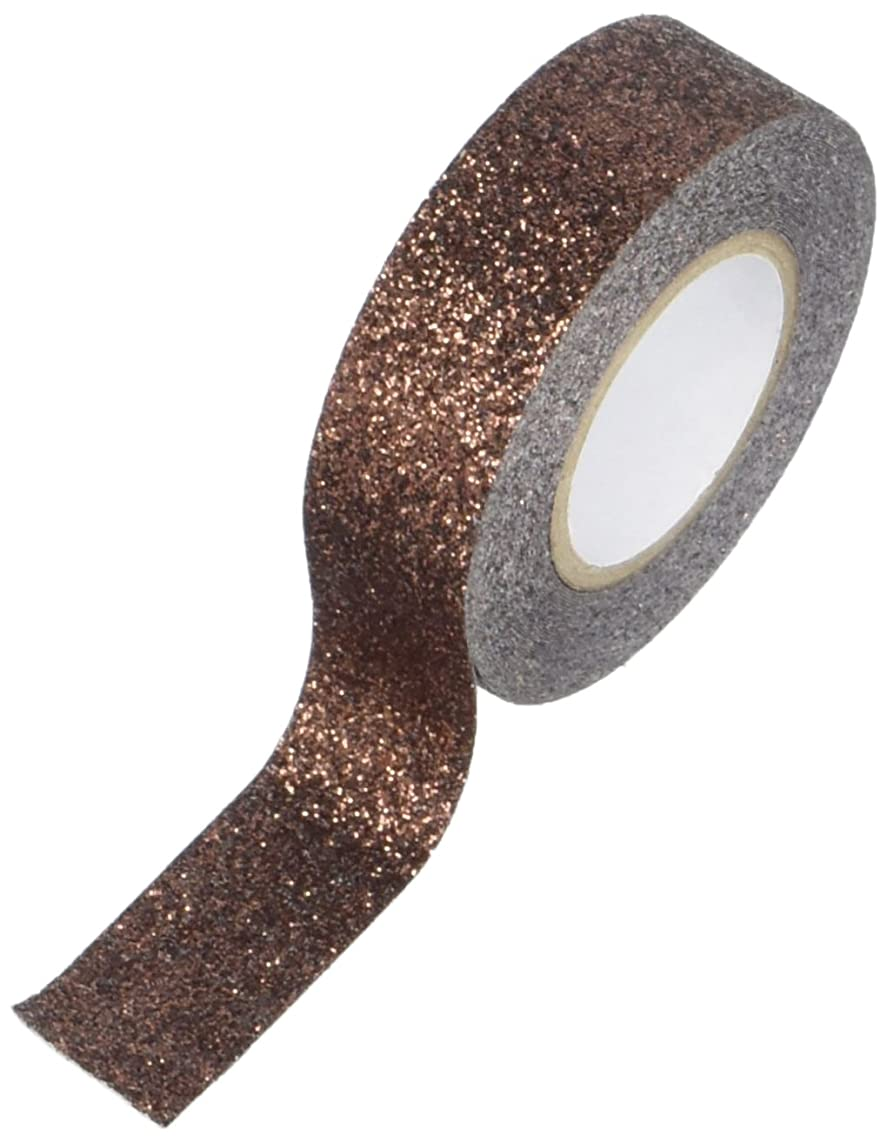 Best Creation GTS012 Glitter Tape, 15mm by 5m, Brown