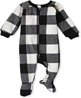 The Children's Place unisex-baby and Toddler Holiday Fleece One Piece Pajamas