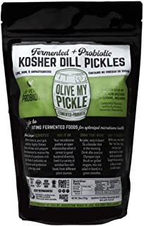 Olive My Pickle | Fermented & Probiotic Pickles For Gut Health - KOSHER DILL PICKLES 28 OZ. (1 PACK) Ships FREE