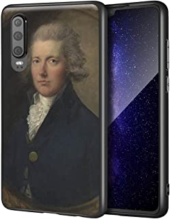 Thomas Gainsborough Huawei P30用ケース/ファインアート携帯電話ケース/高解像度ジクレーレベルUV複製プリント、携帯電話カバー(ウィリアム・ピット)