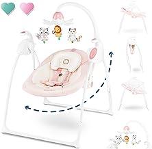 Blau Automatik Babyschaukel Multifunktionsklappbarer Automatische Safe Elektrische Baby-Wiege Wippe mit Matte