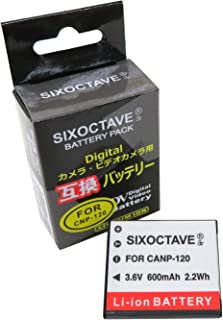 SIXOCTAVE NP-120 互換 バッテリー [ 純正充電器で充電可能 残量表示可能 純正品と同じよう使用可能 ] カシオ EX-S200 EX-S200S EX-S200BE EX-S200BK EX-S200EO EX-S200PK ...