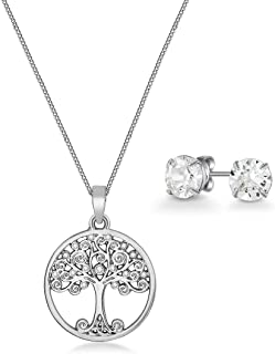 Mestige Necklace and Earrings Set, with Swarovski Crystals - MSSE3336