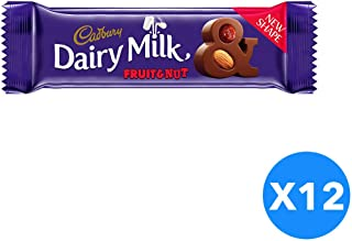 Cadbury Dairy Milk Fruit And Nut- 12 Pieces, 37 gm