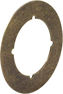 Defender Security U 9498 Backplate, 3-1/2-Inch, Antique Brass,(Pack of 2)