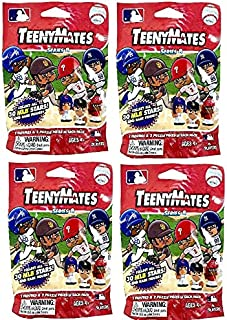 Party Animal TeenyMates 2021 MLB Series 8 Mini Figures Blind Bags Gift Set Party Bundle - 4 Pack
