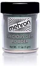 Mehron Precious Gem Glitter Powder 0.17 Oz | Silky, Bright Colors, Shimmering & Sparkling Loose Eyeshadow | For Face, Body & Nails | Add Intensity, Improve Looks & Create Dramatic Effect (Emerald)