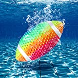 Hiboom Swimming Pool Football, Underwater Waterproof Toy Football for Under Water Passing, Dribbling, Play Diving Ball Games for Teens, Adults, Fills with Water or Air