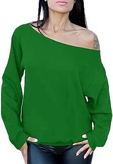 Best green off the shoulder sweatshirt Reviews