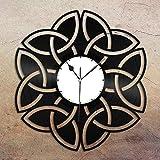 Silversart - Reloj de pared de vinilo con nudo celta, regalo único para amigos, decoración de la habitación del hogar, diseño vintage, oficina, bar, habitación del hogar