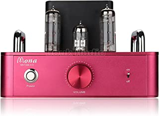 Douk Audio HiFi 6P14(EL84) Vacuum Tube Integrated Amplifier; Stereo Single-Ended Class A Power Amp (Red)