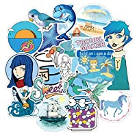 ステッカー 10/30 / 30 / 50pcsブルー新鮮なステッカーかわいい女の子のステッカー防水荷物ラップトップスケートボードの装飾卸売 絶妙なステッカー (Color : 30PCS)