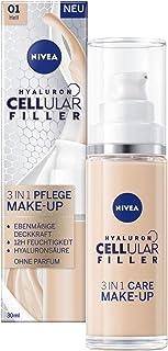NIVEA Hyaluron cellulär fyllmedel 3-i-1 Care Make-Up Ljus (30 ml), fuktgivande foundation med hyaluron, ansiktsmakeup för ...
