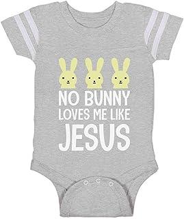 Tstars - No Bunny Loves Me Like Jesus Christian Easter Baby Jersey Bodysuit