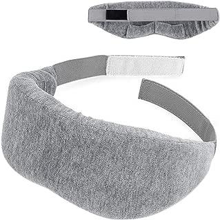 Flytool Cotton Sleep Eye Mask for Women and Men Adjustable Blindfold Nap Travel Eyeshade, Grey, One Size