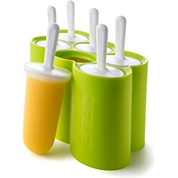 Zoku Slow Pops Moules à glace en silicone faciles à enlever avec protège-gouttes.