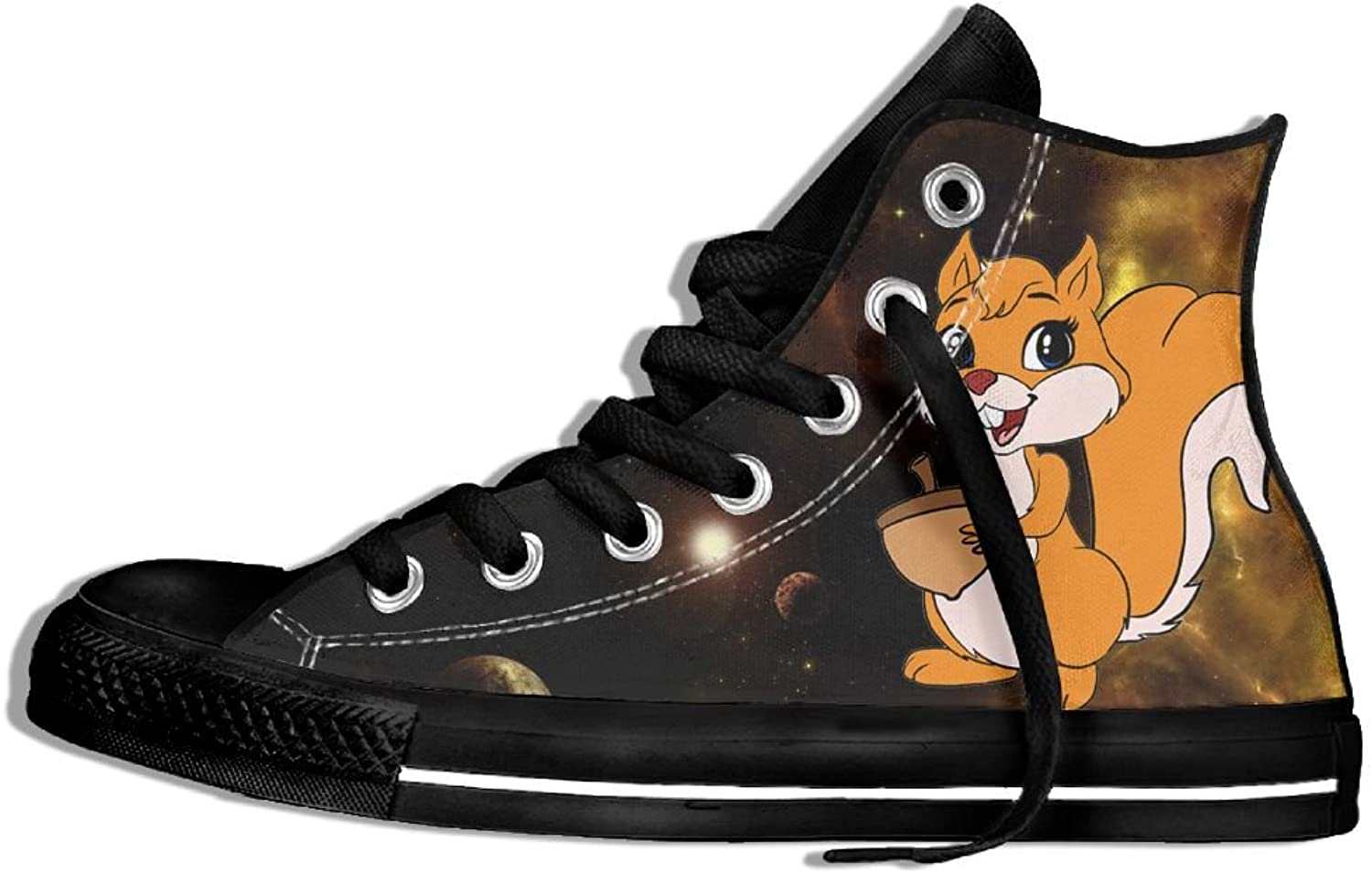 Cute Squirrels High Top Classic Casual Canvas Fashion shoes Sneakers For Women & Men