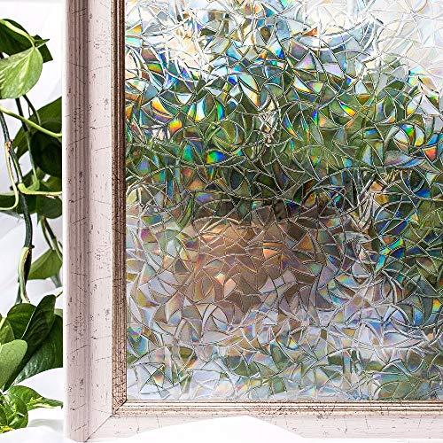 LMKJ Film Fenster Film klebefrei 3D statisch Schönes Fenster Sichtschutzglas A123 50x100cm