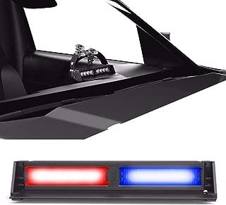 SpeedTech Lights Striker TIR 2 Head LED Strobe Deck Dash Windshield Mount Light Bar for Police, Security, and Emergency Vehicles Hazard Flashing Warning Lights with Cigarette Lighter Plug Red/Blue