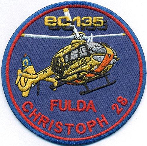 Christoph 28 Fulda EC135 Luftrettung BW ADAC Hubschrauber Helikopter Aufnäher Patch