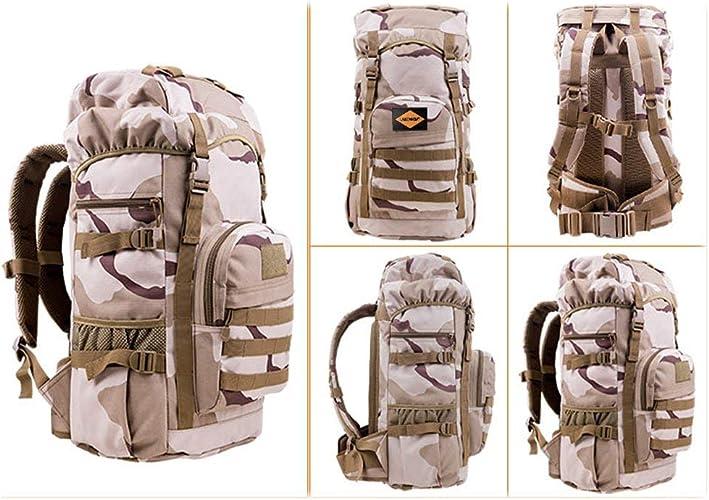 XQY Trekking sac à doss Back Sac à dos de randonnée - Sac à dos de randonnée en nylon imperméable pour l'extérieur, sac de voyage pour alpinisme sportif pour hommes et femmes de grande capacité, camou