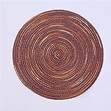 ABCABC Colorido teñido Satinado Hilado de algodón Tejido placemat Medio Ambiente Almohadilla Hecha a Mano Almohadilla montaña (Color : Brown, Size : 36cm)