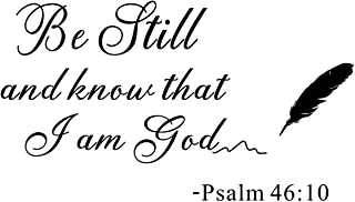 Wall Stencils Quotes - Be Still and Know That I Am God Psalm, Prayer Decor Vinyl Wall Decals Murals Religion Christian Rel...
