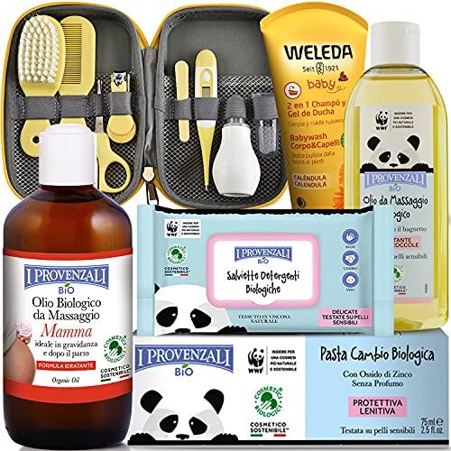 Canastilla Regalo Recién Nacido .Set de productos BIO Pack de seis productos con set de cuidado