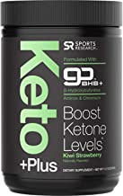 Keto Plus™ Powder - Exogenous Ketones BHB + Chromium Picolinate - 30 Servings | Formulated for Ketosis, Energy and Focus | Keto Certified, Vegan Friendly (Kiwi Strawberry)
