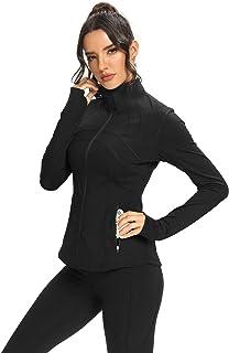 Hiverlay Womens Running Jacket Zip Up Yoga Track Define Jacket Cold Weather