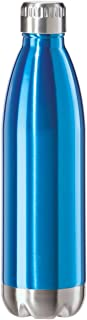 featured product Oggi 8086.5 Stainless Steel Calypso Double Wall Sports Bottle with Screw Top (0.75 Liter, 25oz)-Blue Lustre Finish