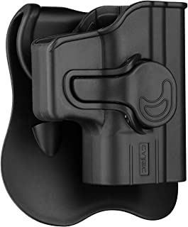 Glock 43 Holsters, OWB Holster for Glock 43 with 360° Adjustable Paddle, Tactical Polymer Outside The Waistband Belt Carry Holster, G43 Pistol Holster - Right Hand