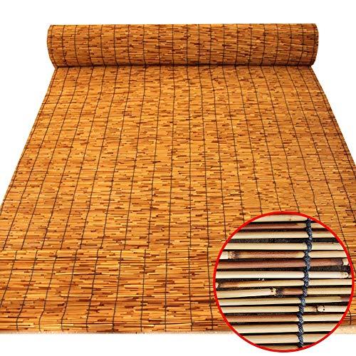 ZTMN Roll Up Window Blind Sonnenschirm, karbonisiertes Schilf, Innendekor Rollschattenvorhänge, anpassbar, 70 cm / 85 cm / 105 cm / 125 cm / 135 cm breit (Größe: 70 × 130 cm)