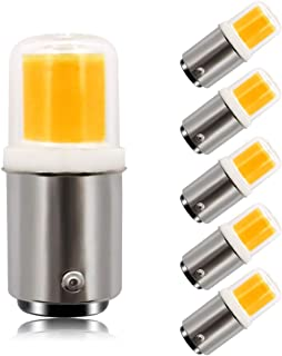 Dimmable Ba15d Double Contact Bayonet Base LED Light Bulbs 120 V 4W 30W Equivalent Replaces JD Type T3/T4/C7/S6/Chandelier/Sewing Machine Lamp Light Bulbs Warm White 3000K(Pack of 5)