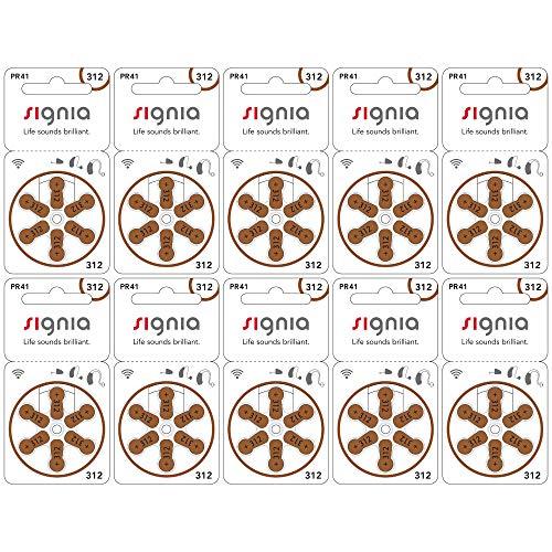シグニア 補聴器用空気電池 PR41(312) 10パックセット(60粒)