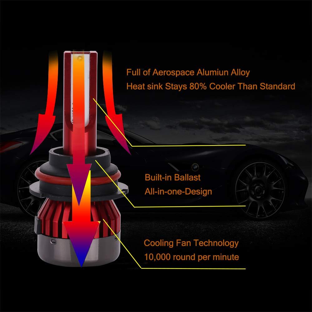 1 Year Warranty cciyu H1 Led Headlight Bulb Brighter Cree White Headlamp Conversion Kit Hi//Lo Beam 8000Lm 80W 6000K 12CSP Chips Focus Light 2pcs