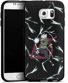 Siliconen Hoesje compatibel met Samsung Galaxy S6 TPU-Case Zwart Telefoonhoesje Kakashi Naruto Shippuden Officieel licenti...