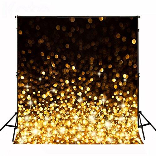 KateHome PHOTOSTUDIOS 1,5x2,2m Fondo para Fotografía Fondo Dorado Brillo telón de Fondo para Foto Bebe Fondos Boda de Microfibra Plegable Fondo Estudio
